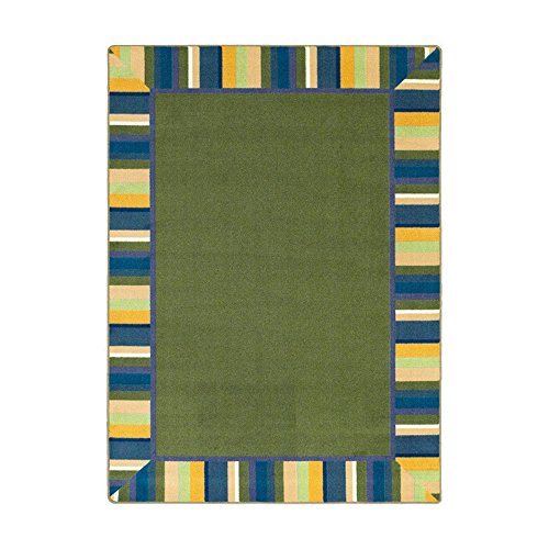 Joy Carpets Kid Essentials Infants & Toddlers Clean Green Rug, Bold, 7'8'' x 10'9'' by Joy Carpets