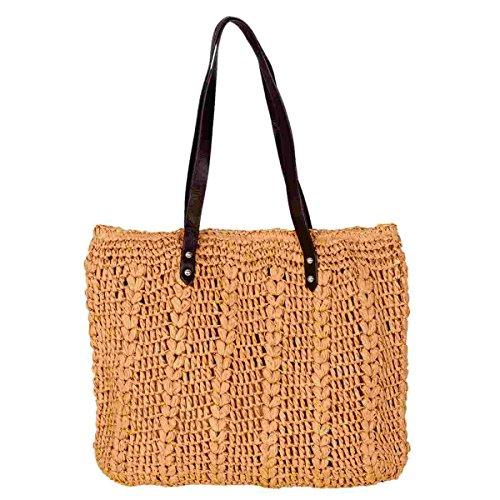 Clayre & Eef BAG248 borsa marrone circa 39 x 35 cm