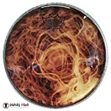 Remo DX-Series Skyndeep Clear Tone Doumbek Darbuka Drumhead - Yellow Mist Graphic, 8.75''