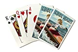 Seaside Heights, New Jersey - Boating Pinup Girl (Playing Card Deck - 52 Card Poker Size with Jokers)