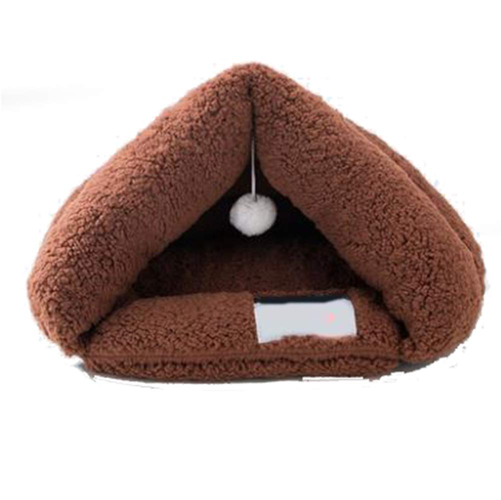 Tan 35cm45cm Tan 35cm45cm Plush Cat Bed, Warm, Cozy and Durable Cat Bed, Suitable for Large Cats and Kittens(35cm45cm,Tan)