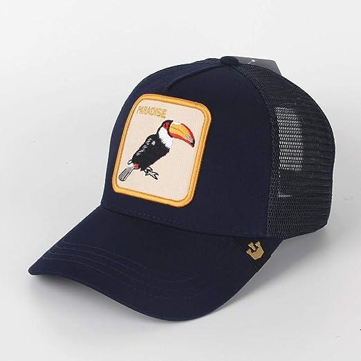 yuange Sombrero de Red Bordado con Gorra de béisbol, tucán - Azul ...