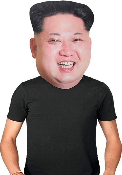 Halloween Costume Famous Kim JongUn Funny Fancy Dress Celebrity Face Mask Adults
