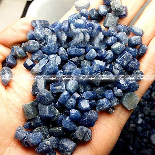 Dalas 100g Real Rare Natural Unheated Blue Sapphire Corundum Facet Rough Specimen Natural Stones and Minerals