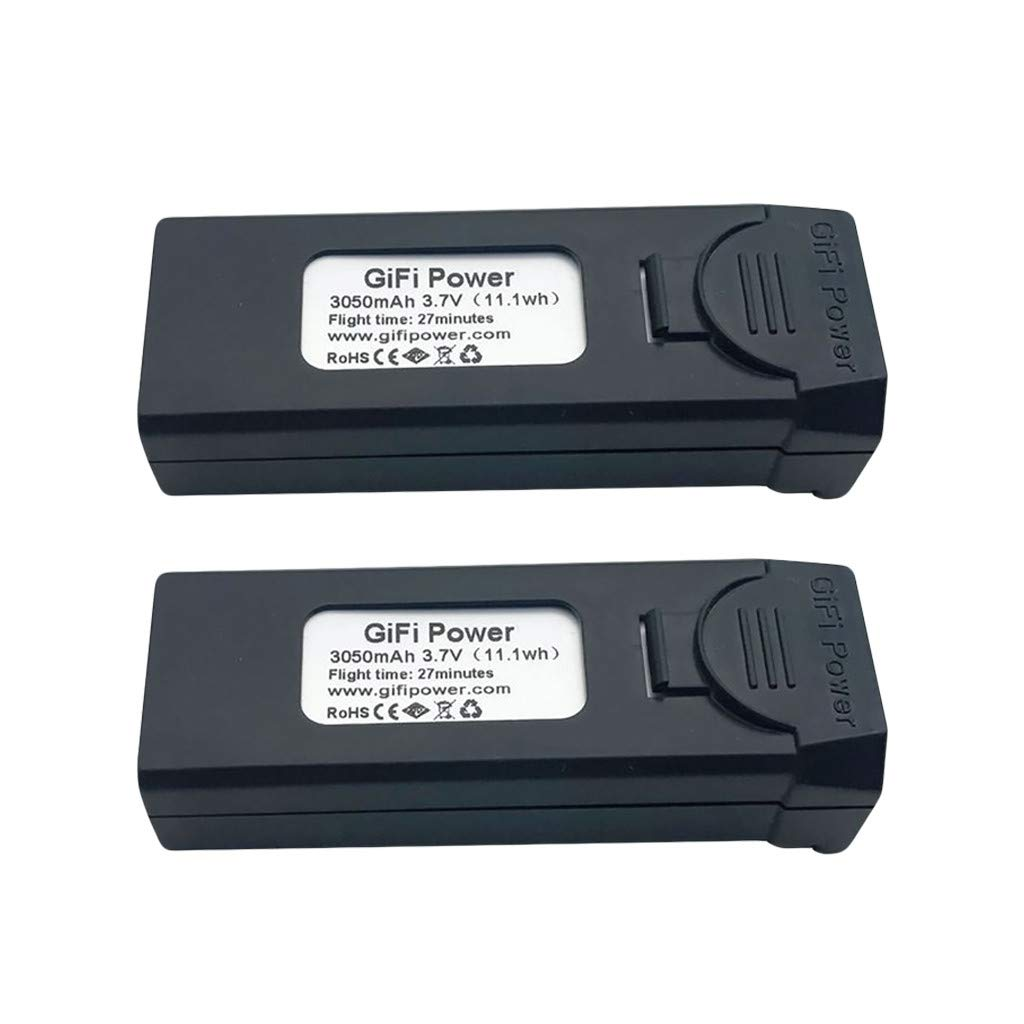 giokfine 2PCS Gifi Power 3.7V 3050mAh LiPo Battery for VISUO XS809S, XS812, XS809HW RC Drone Battery Large Capacity Battery by giokfine