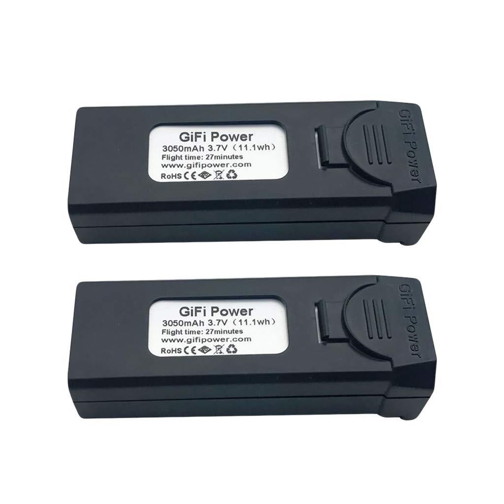 giokfine 2PCS Gifi Power 3.7V 3050mAh LiPo Battery for VISUO XS809S, XS812, XS809HW RC Drone Battery Large Capacity Battery