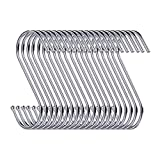 """30 Pack S Shaped Hanging Hooks 3.5"""" Hangers for Kitchen, Bathroom, Bedroom and Office"""