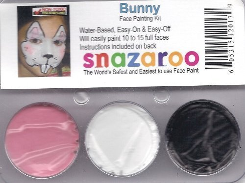 Face Paint Theme (Snazaroo Bunny Rabbit Face Paint Theme Kit)