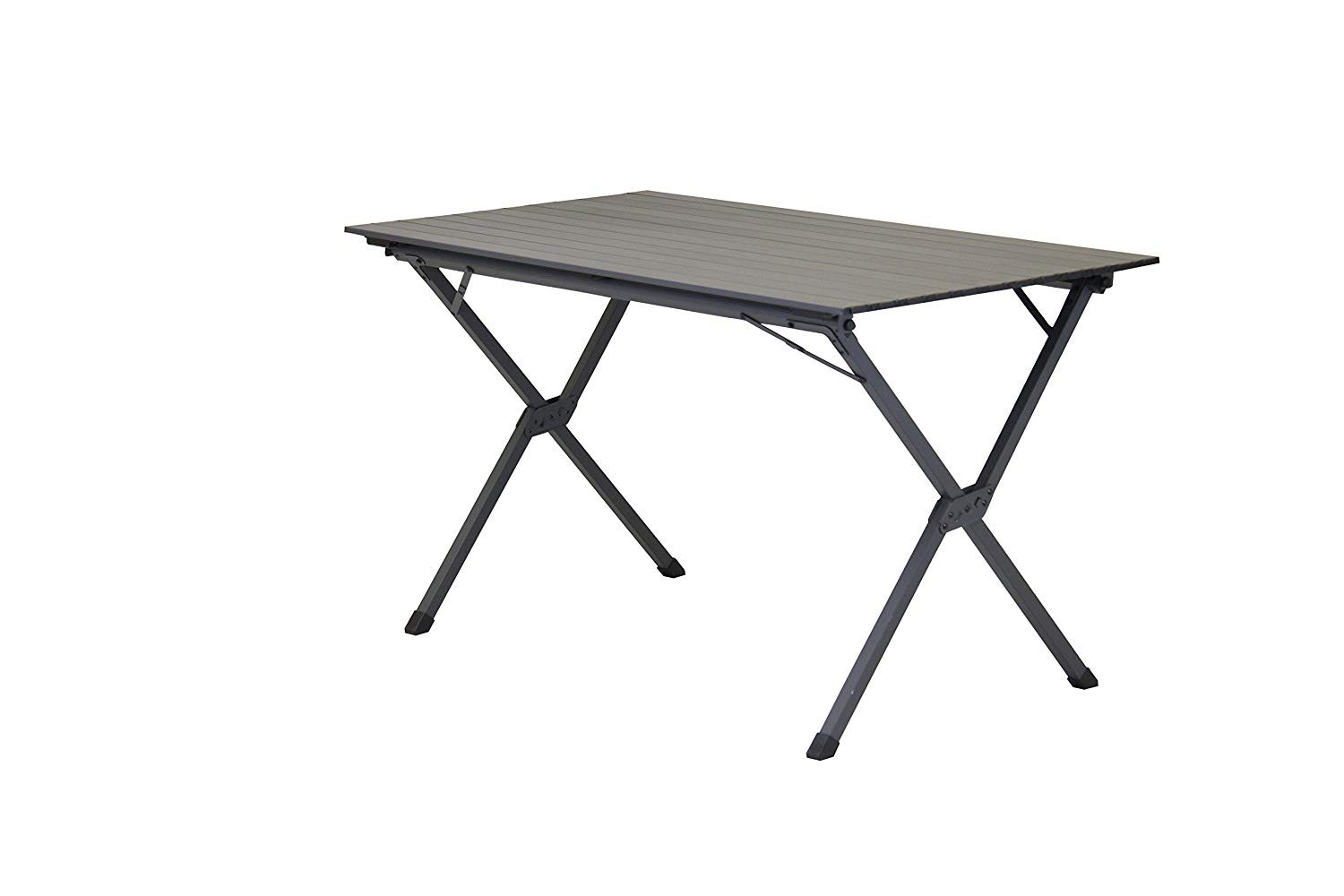 Portal Outdoor Hawaii Slatted Lightweight Aluminium Portable Camping Table in Graphite Grey – 30kg Maximum Load with Storage Bag, Seats up to 6 People PT-TB-HAWAII