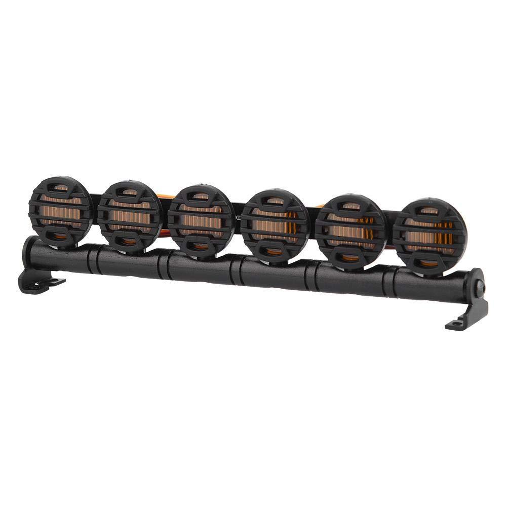 Blanc Dilwe 152 mm RC Crawler Barre Lumineuse multifonctionnelle 6 LEDs Accessoire pour 1:10 1:8 RC Crawler Voiture