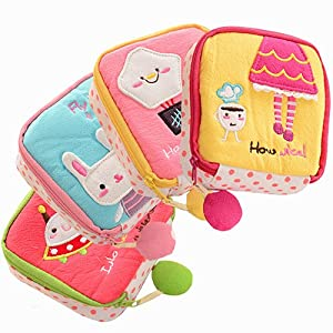 EUNOMIA Women Girls Cartoon Sanitary Napkins Bag Menstrual Cup Pouch Organizer Convenience Bags