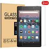 [2 Pack] Amazon Fire HD 8 2018 8th Screen Protector, KATIAN HD Clear Protector [Anti-Scratch] [No-Bubble] [Case-Friendly], 9H Hardness Tempered Glass Screen Film for Amazon Fire HD 8 2018 8th