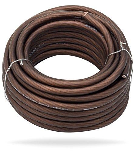 InstallGear 8 Gauge Black 25ft Power/Ground Wire - OFC (99.9% Oxygen-free Copper)