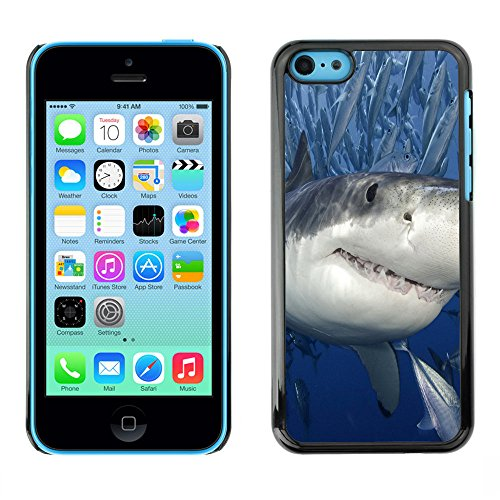 Omega Case PC Polycarbonate Cas Coque Drapeau - Apple iPhone 5C ( Killer Shark With Fish )
