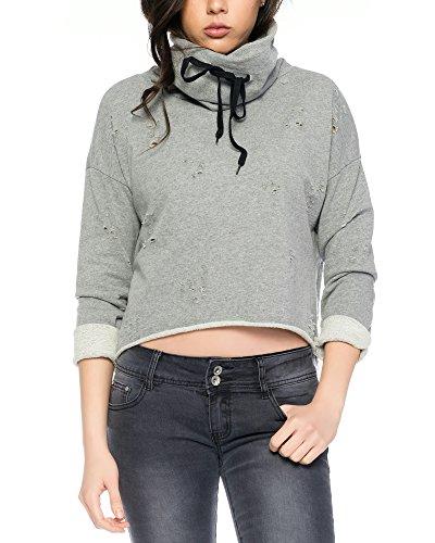 Fashion Flash Fashionflash-Sudadera Mujer gris