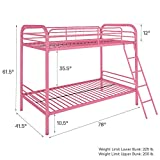 DHP Twin-Over-Twin Bunk Bed with Metal Frame and