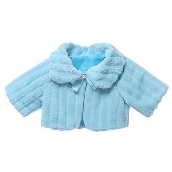 QSEFT Ropa para Niños Chaqueta Infantil Abrigo De Piel Sintética para Niñas  Abrigos Chaqueta De Mantón e910c3de1d1