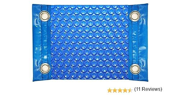 International Pool Protection Manta TÉRMICA (COBERTOR TÉRMICO-Cubierta ISOTÉRMICA-TOLDO para Piscina) DE 600 MICRAS ECONÓMICA con Refuerzo EN LOS Lados Estrechos + Ojales EN Acero Inoxidable (7x3, 5m): Amazon.es: Jardín