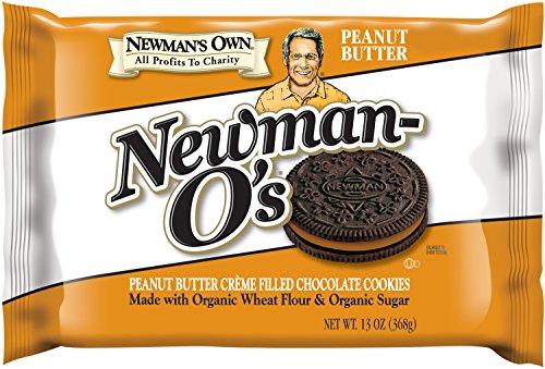 Newman's Own Newman-O's Sandwich crèmes, Peanut Butter, 13-oz. (Pack of 6)