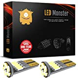 2012 Acura TSX License Plate Light Bulbs - LED Monster 2pcs T10 Wedge Best Value Super Bright High Power 3014 15-SMD 194 168 2825 W5W White LED Bulb Lamp for Car Truck Interior Dome Map Door Courtesy License Plate Lights