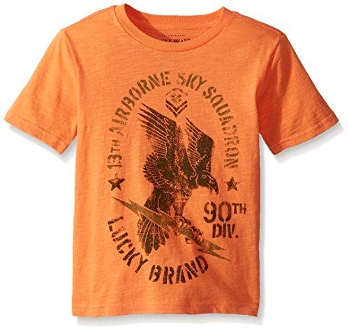 (Lucky Brand Toddler Boys' Short Sleeve Graphic Tee Shirt, Golden Poppy Eagle, 3T)