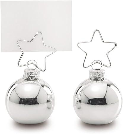 Pack de dos bolas de navidad para asignación de nombres, con ...