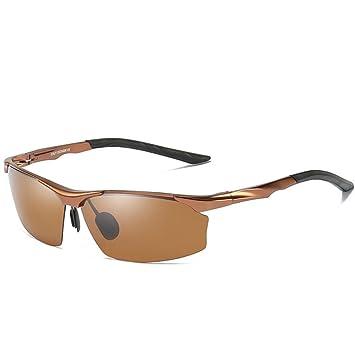 GAOLIXIA Moda Hombre conduciendo Gafas de Sol polarizadas para Hombres Al-MG Metal Frame Ultra