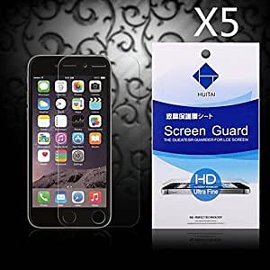HD Screen Protector with Dust-Absorber for iPhone 5/5S/5C (5 PCS)
