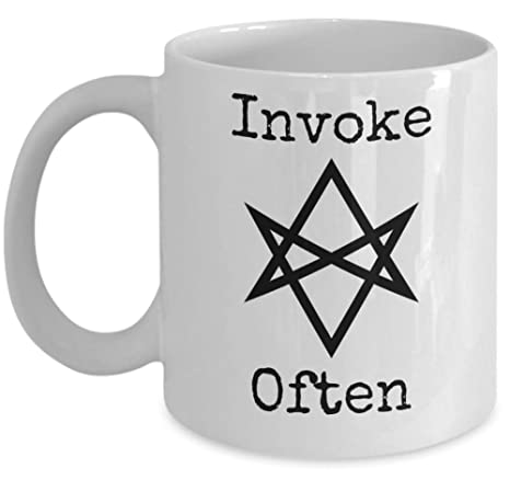 Amazon.com: Taza de café de Thelema – Invoke Often ...