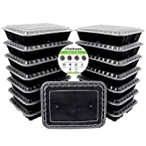 3-Compartment : Freshware 15-Pack 3 Compartment Bento Lunch Boxes with Lids - Stackable, Reusable, Microwave, Dishwasher & Freezer Safe - Meal Prep, Portion Control, 21 Day Fix & Food Storage Containers (36oz)