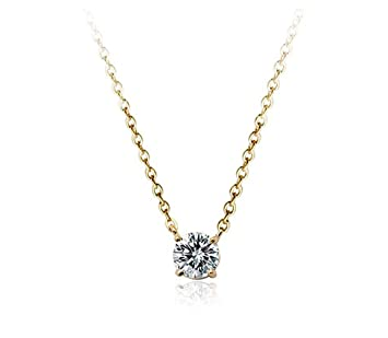 Amazon aaa cubic zirconia crystal ornate round 6mmx6mm aaa cubic zirconia crystal ornate round 6mmx6mm zirconia solitaire pendant necklace fashion jewelry for women aloadofball Image collections
