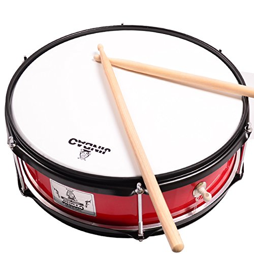 Amazon Com Jinbao Percussion Army Drum Red Snare Drum For Kids With