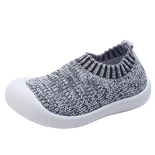 Toddler Baby Boys Girls Shoes Cotton Knitting Breathable Soft Rubbler Sole Outdoor Sneakers First Walkers