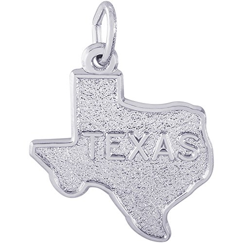- Rembrandt Charms Sterling Silver Texas Charm (17.5 x 17.5 mm)