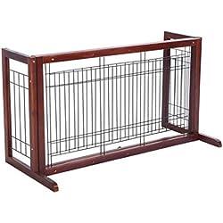 Gate Dog Wood Door Paw Wide Tall Adjustable Indoor Solid Construction Pet