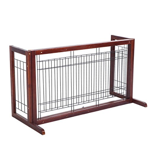 Gate Dog Wood Door Paw Wide Tall Adjustable Indoor Solid Construction Pet