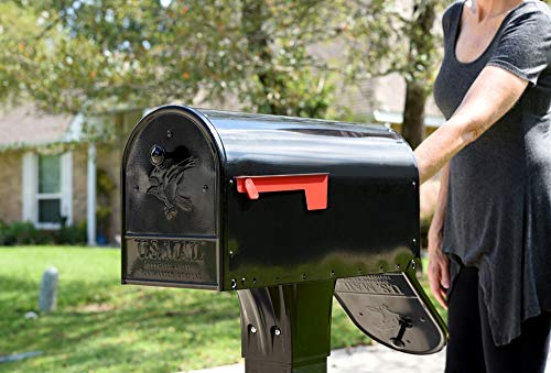 Gibraltar Mailboxes OM160B01 Outback Double Door, Large Capacity Mailbox Black by Gibraltar Mailboxes (Image #6)
