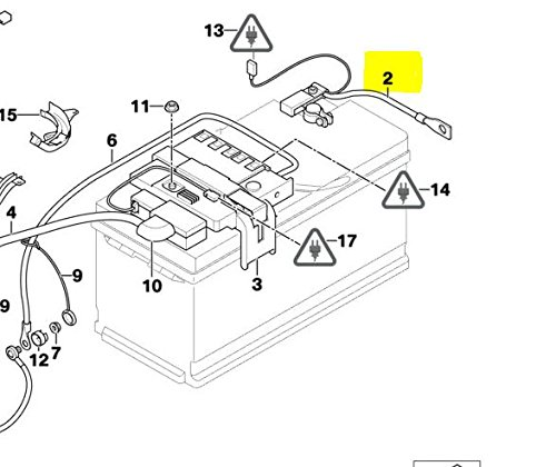 GENUINE BMW Battery Cable - Negative with Intelligent Battery Sensor (IBS) 12427603567 by BMW