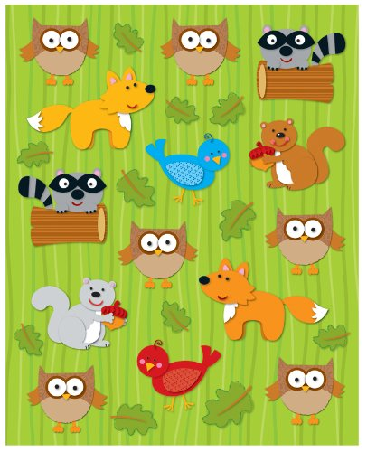 Carson Dellosa Woodland Animals Shape Stickers (168026)