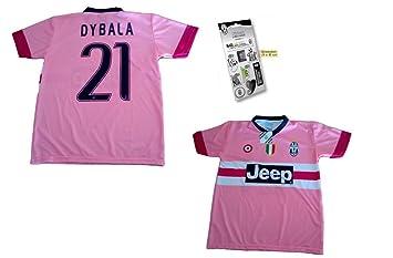Juventus Juego de Camiseta de fútbol replica DYBALA los oficiales-Stickers rosa Talla:12