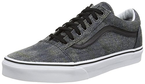 Unique Adulte Denim Acid U Taille Old Noir Black Marron Skool Navy Baskets Basses Mixte Vans YzSww
