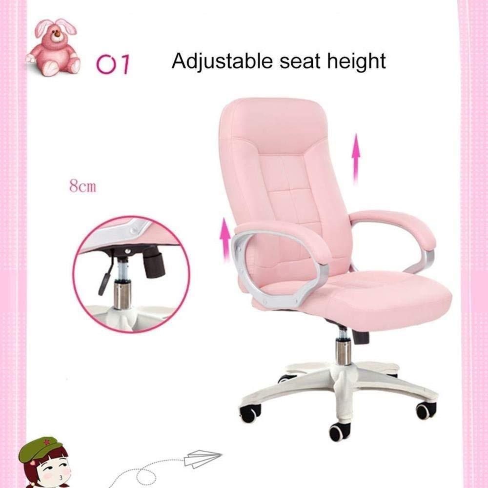 Barstolar Xiuyun möbelserier stort betyg läder verkställande svängbar ergonomisk kontorsstol med justerbart nackstöd (färg: svart) Svart
