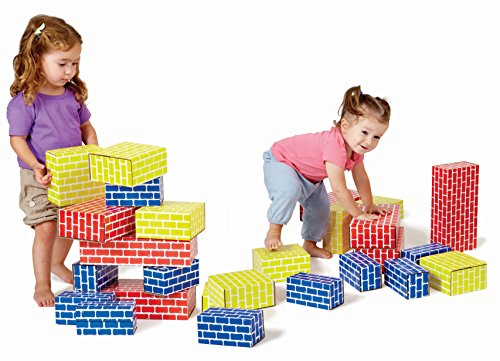 Edushape Corrugated Blocks, Set of 84 (Jumbo Cardboard Building Blocks)