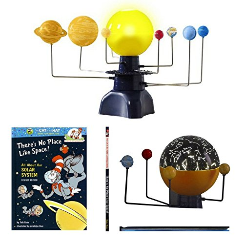 2-in-1 Spinning Solar System & Constellation Projector And All About Our Solar System Hardcover, Planetary Fun Bundle, Science For Kids, Discovery, Experiments, Kids Educational Learning Toys, STEM ()