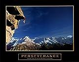 Perseverance Rock Climber Mountain Climbing Scenic Sports Motivational Poster