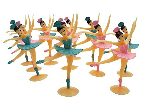 24 Ballerinas Party Favors Ballerina Cupcake Toppers by Unknown