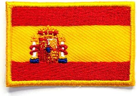 【ノーブランド品】アイロンワッペン ミニワッペン ワッペン 刺繍ワッペン 国旗 スペイン アイロンで貼れるワッペン