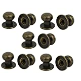 uxcell® Jewelry Box Gift Case 12mmx11mm Metal Pull Handle Knobs Bronze Tone 10pcs