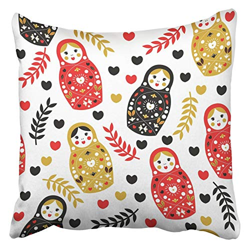 Emvency Decorative Throw Pillow Covers Cases Red Doll