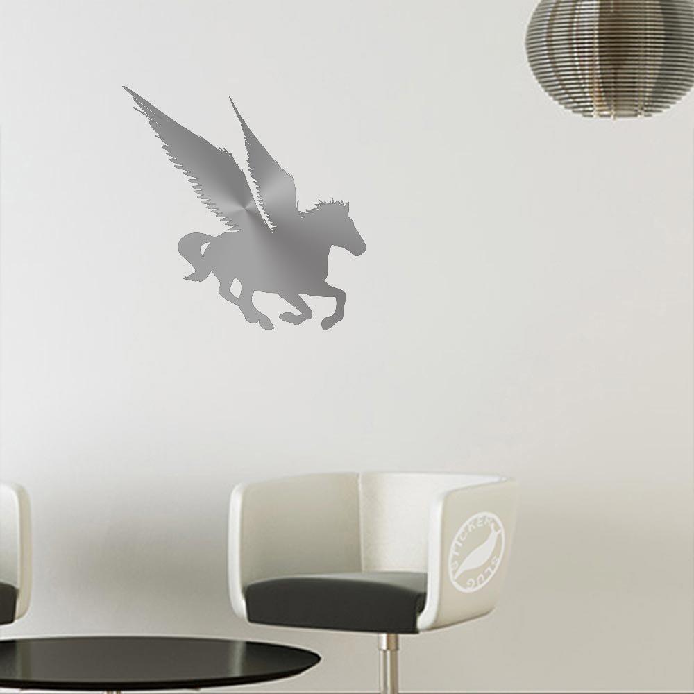 トミカチョウ Pegasus (for Horseデカールステッカー 5 inch (mirror (mirror image) シルバー z-cl-0099-mattesilver-5-rev 5 5 inch (mirror image) Matte Metallic Silver (for walls) B00M3L334E, コレコレ!:9fe72ae8 --- a0267596.xsph.ru